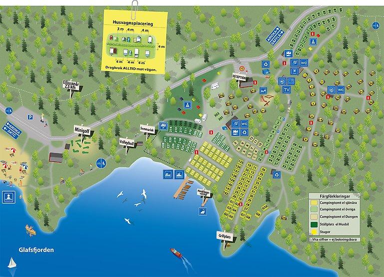 Karta Arvika Kommun.Karta Over Campingen Ingestrandscamping Se